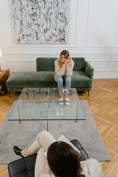 A Woman in a Therapy Session