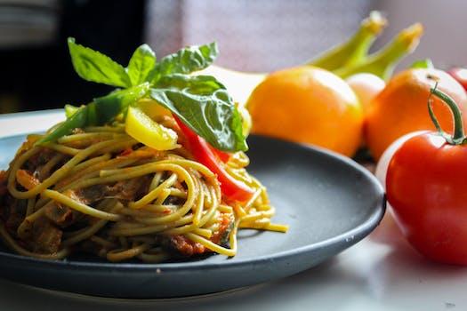 Spaghetti On White Plate 183 Free Stock Photo