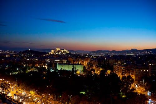 Free stock photo of acropolis, athens, greece, night