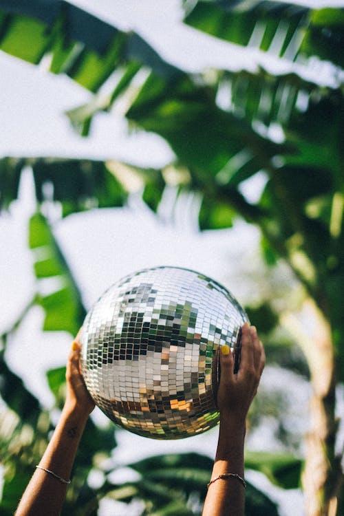 Kostenloses Stock Foto zu discokugel, festhalten, halten