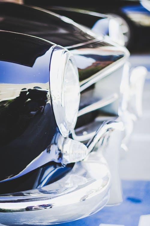 Δωρεάν στοκ φωτογραφιών με chrome, αγωνιστικό αυτοκίνητο, αντανακλάσεις, αυτοκίνηση