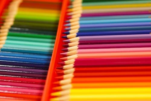 Colorful Arrangement of Colored Pencils