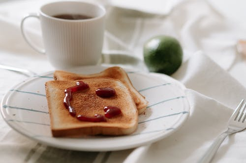 A Toast with a Smiley Jam