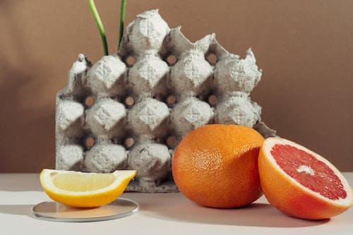 Sliced Orange  on White Surface