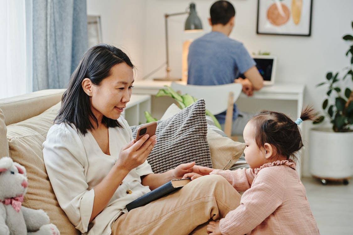 一起, 亞洲家庭, 兒童 的 免費圖庫相片