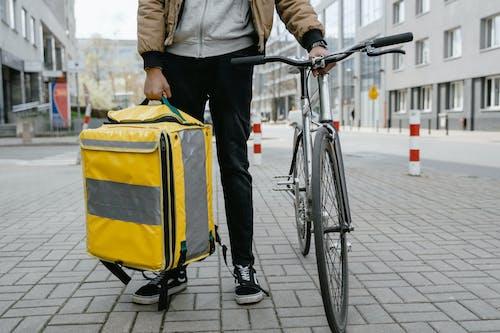 Ingyenes stockfotó belváros, bicikli, biciklis témában