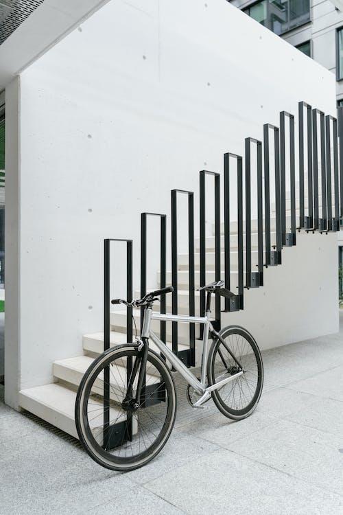 Imagine de stoc gratuită din balustradă, bicicletă, scări
