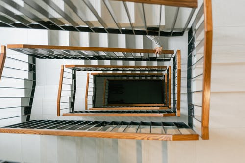 Photo of a Staircase Shot from Above