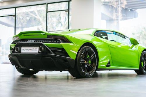 A Shiny Green Supercar