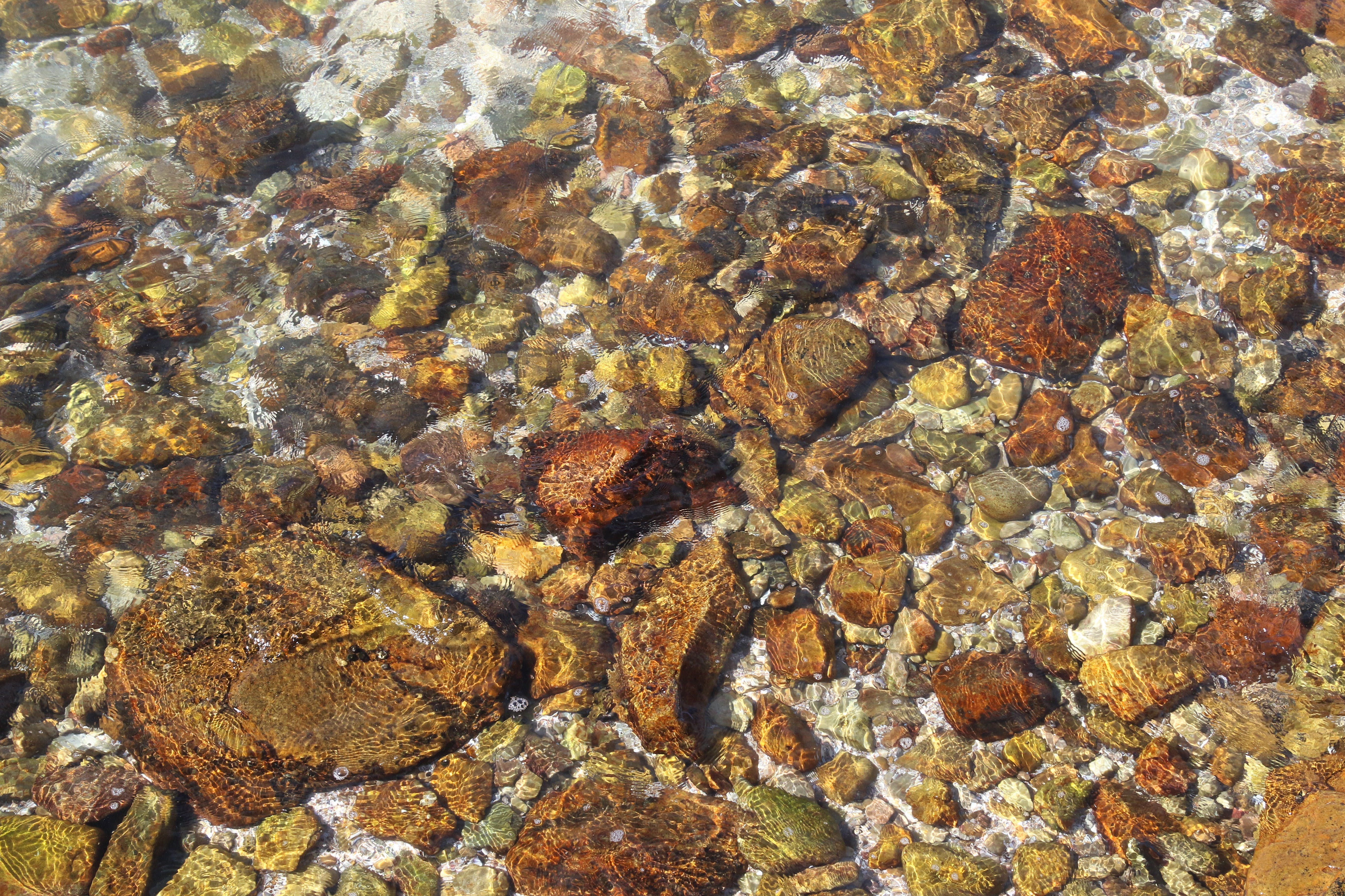Stones Under Clear Water