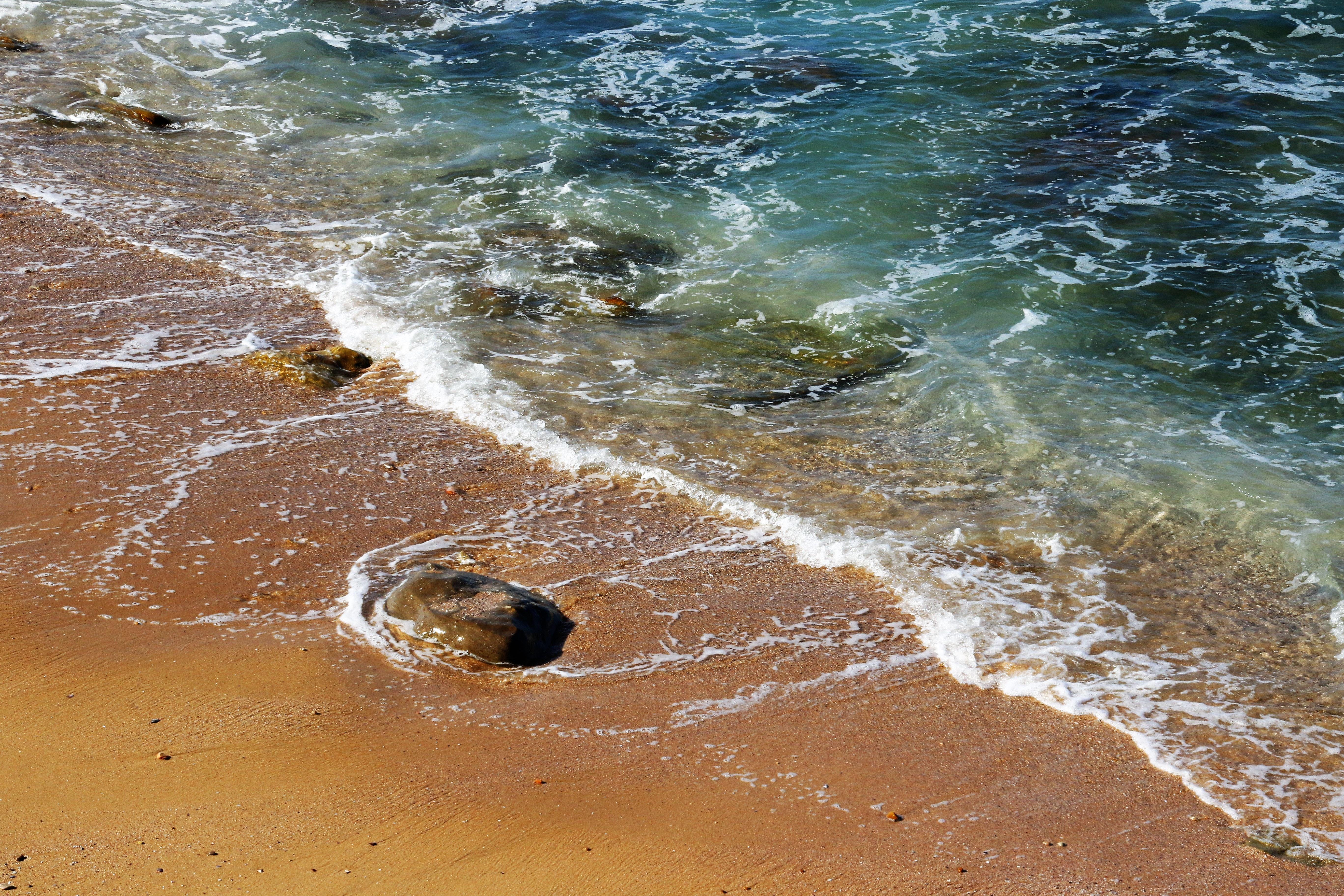 Foto De Lapso De Tempo Da Onda Do Mar · Foto profissional gratuita