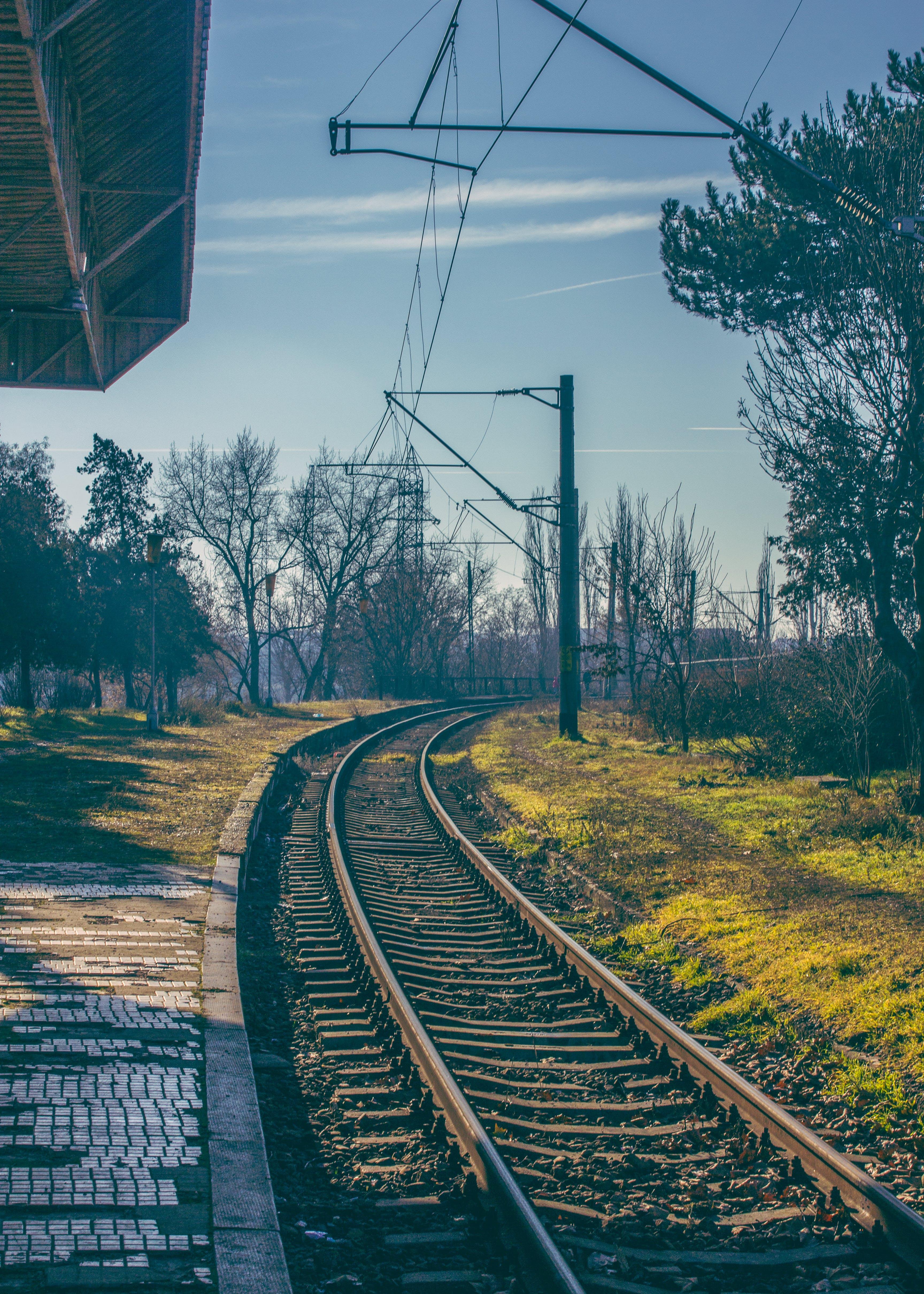 Free stock photo of railroad, sunny, train station
