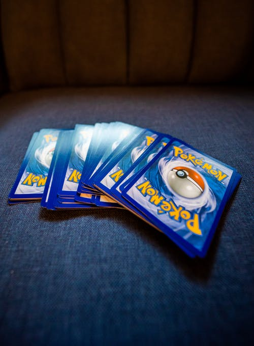 A Stack of Pokemon Cards
