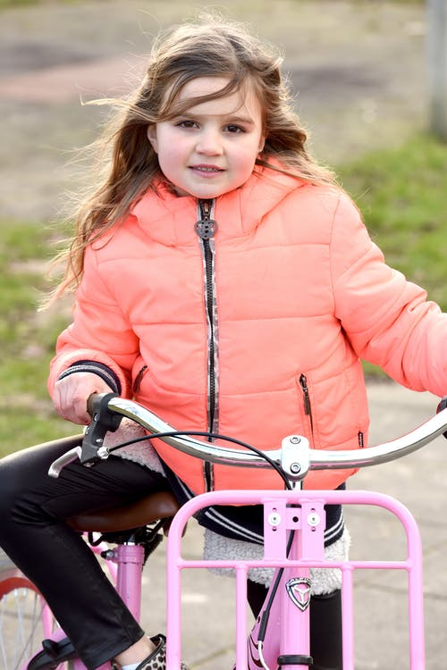 Free stock photo of bicycle, young girl