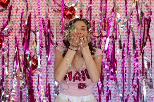 Free stock photo of confete, confetti, girl