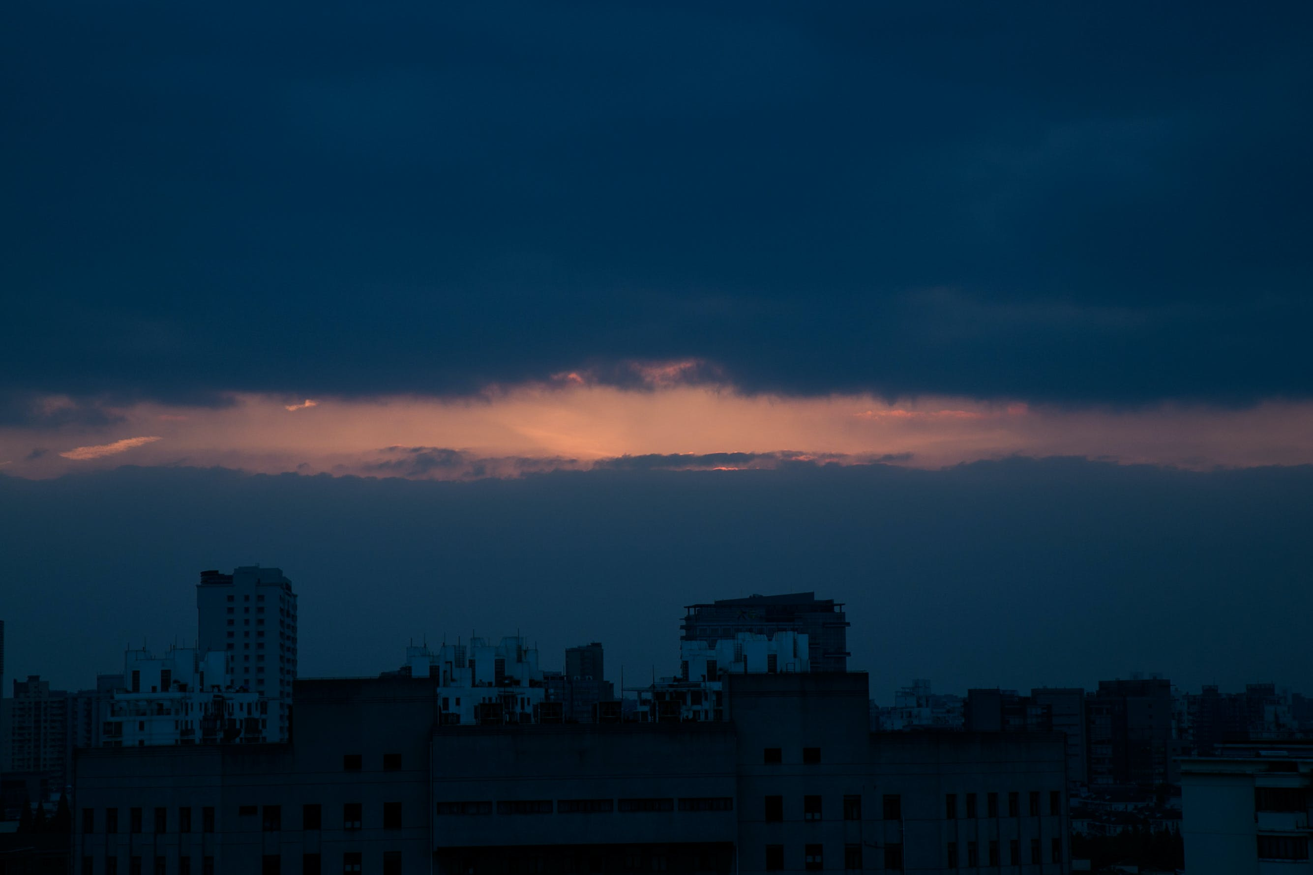 Free stock photo of ash cloud, city, night, sunset