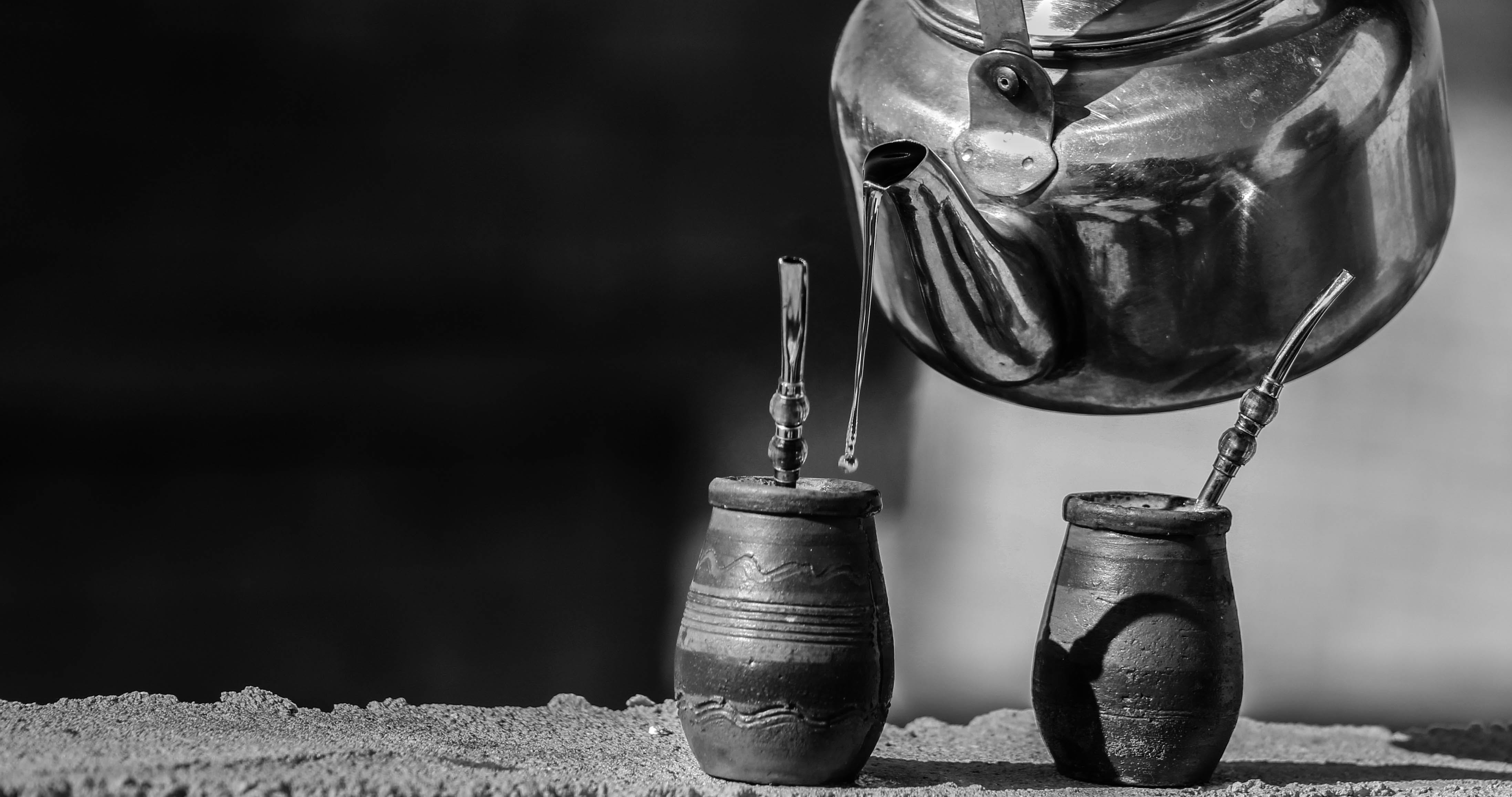 Grayscale Photography of Two Pots