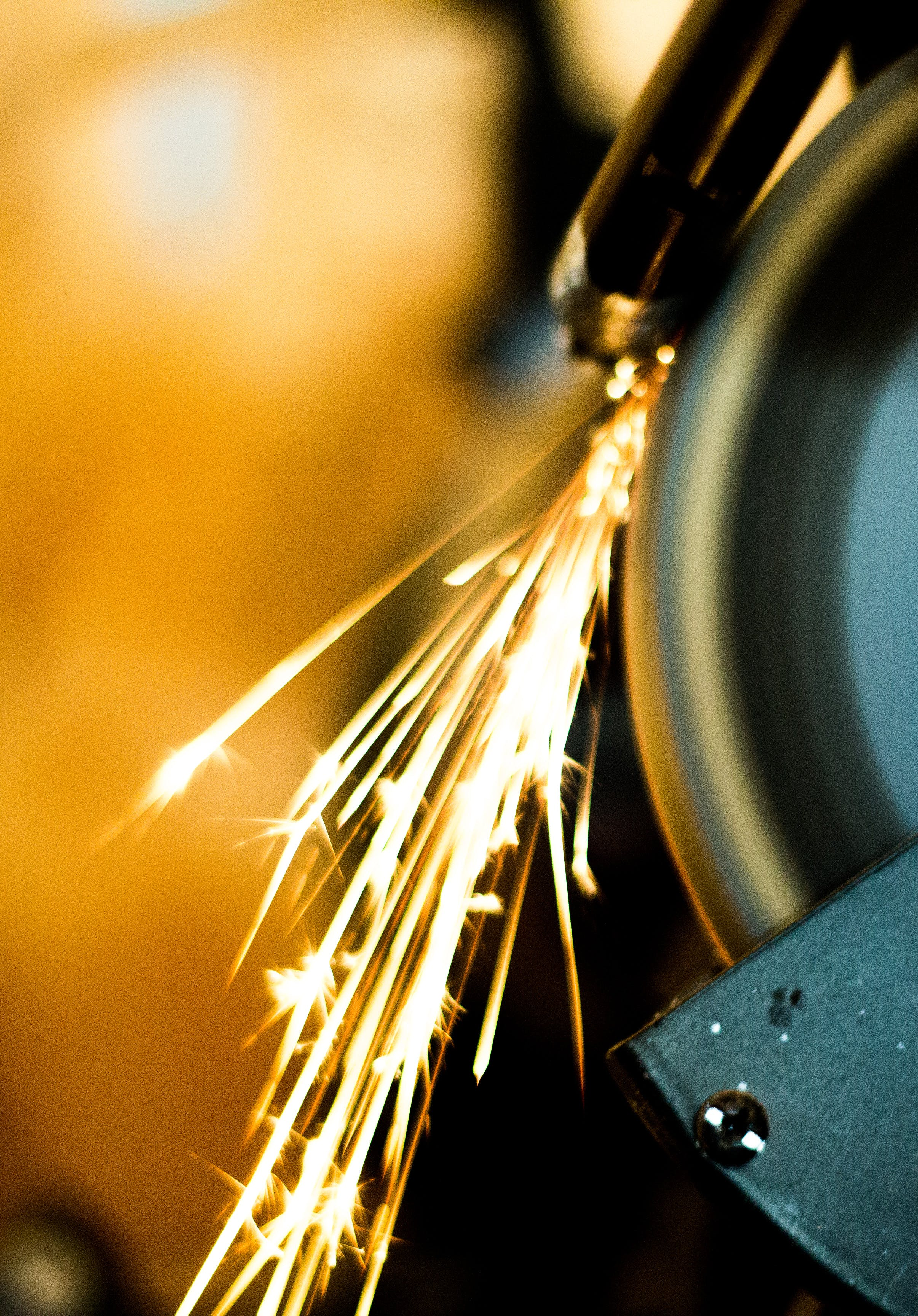 Steel Wool Photography of Bench Grinder