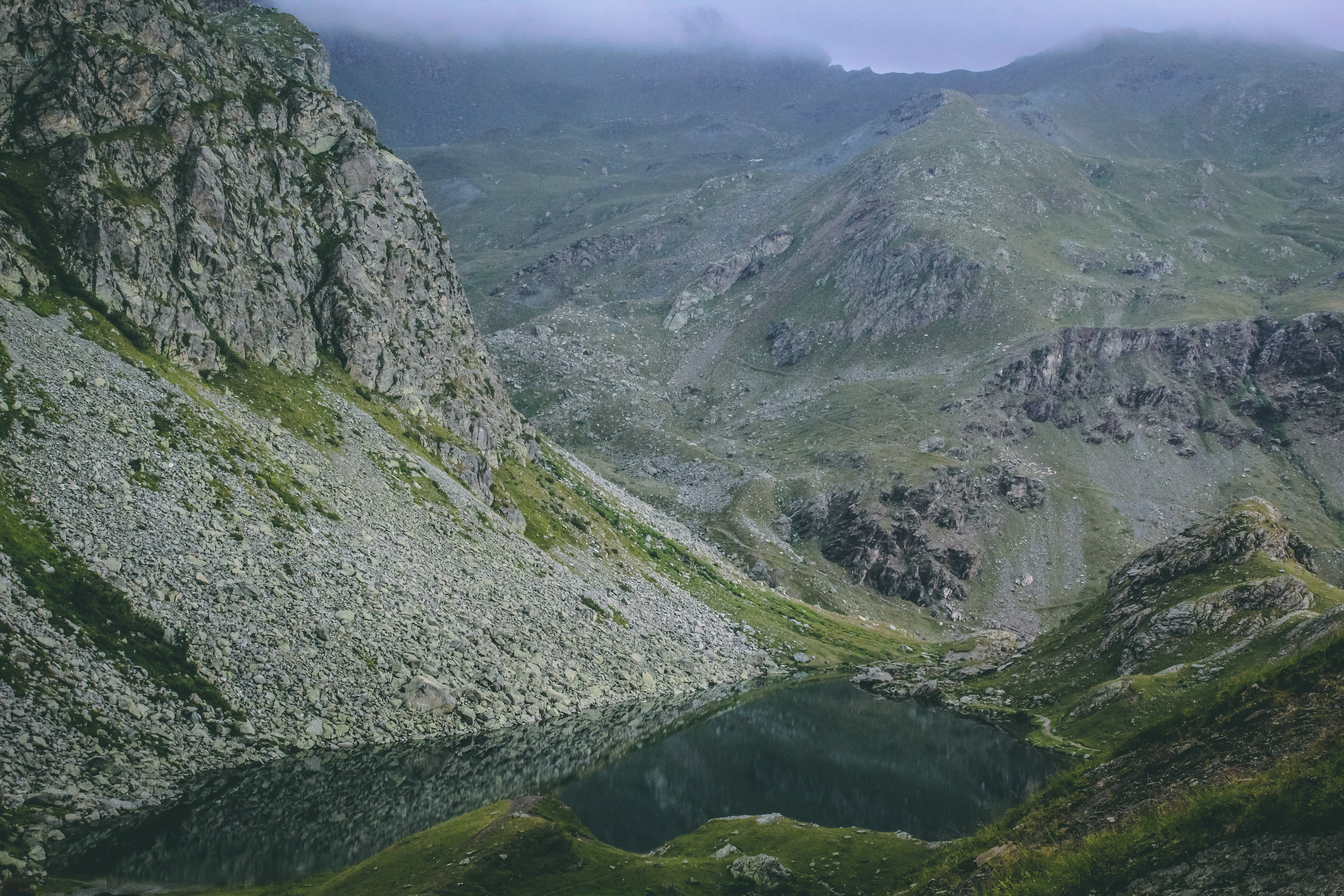 Green and Gray Mountain