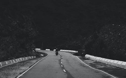 Free stock photo of black and white, mountains