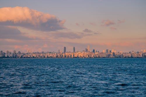 A City Skyline Across the Ocean