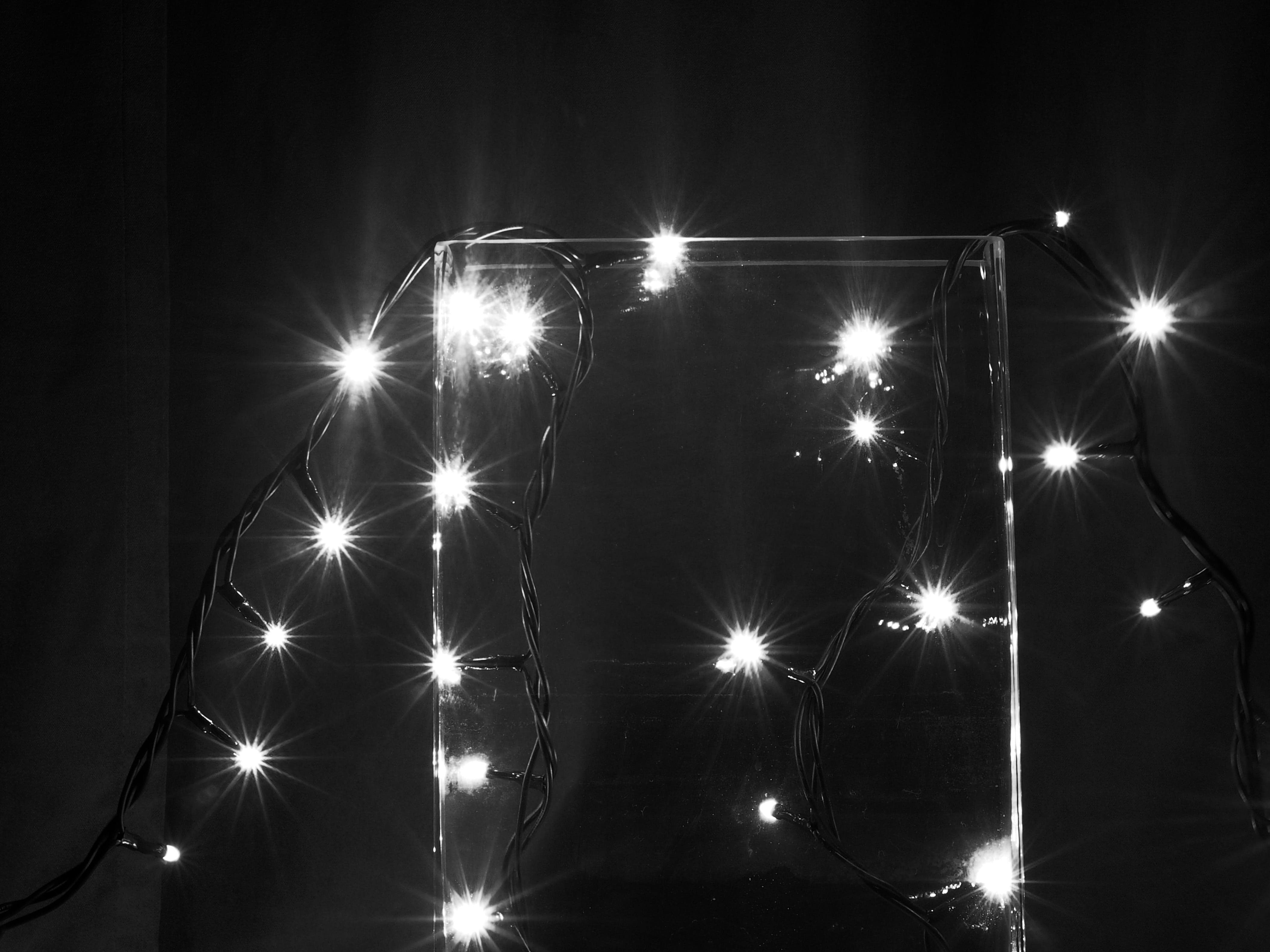 Free stock photo of lights, long exposure, black and-white