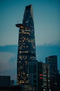 High Rise Concrete Building during Dawn