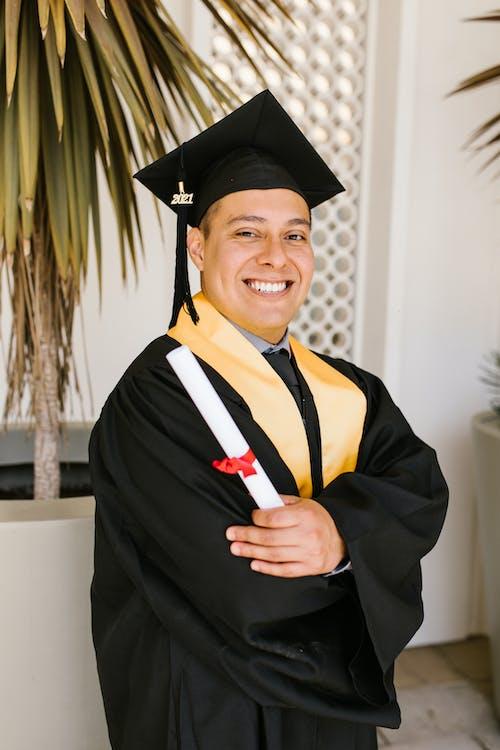 Smiling Man in Academic Dress