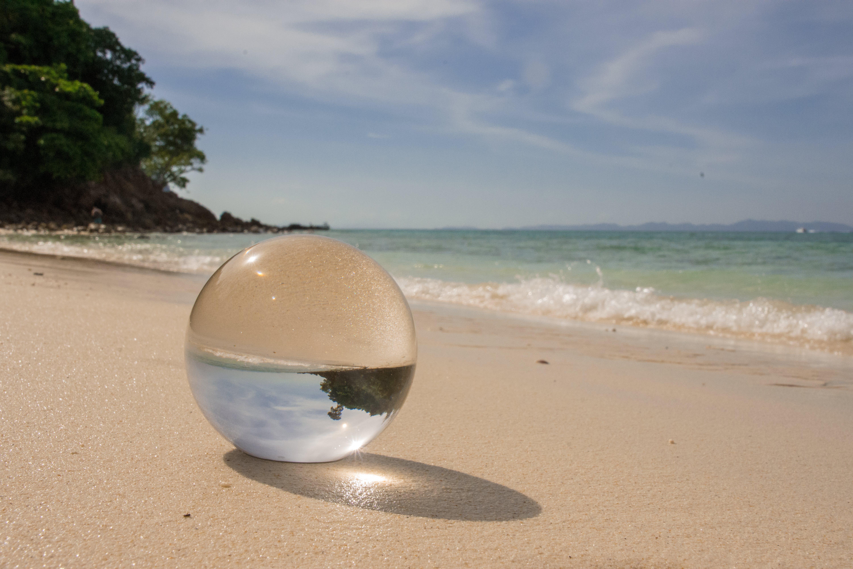 Free stock photo of beach, crystal ball, sand, sea