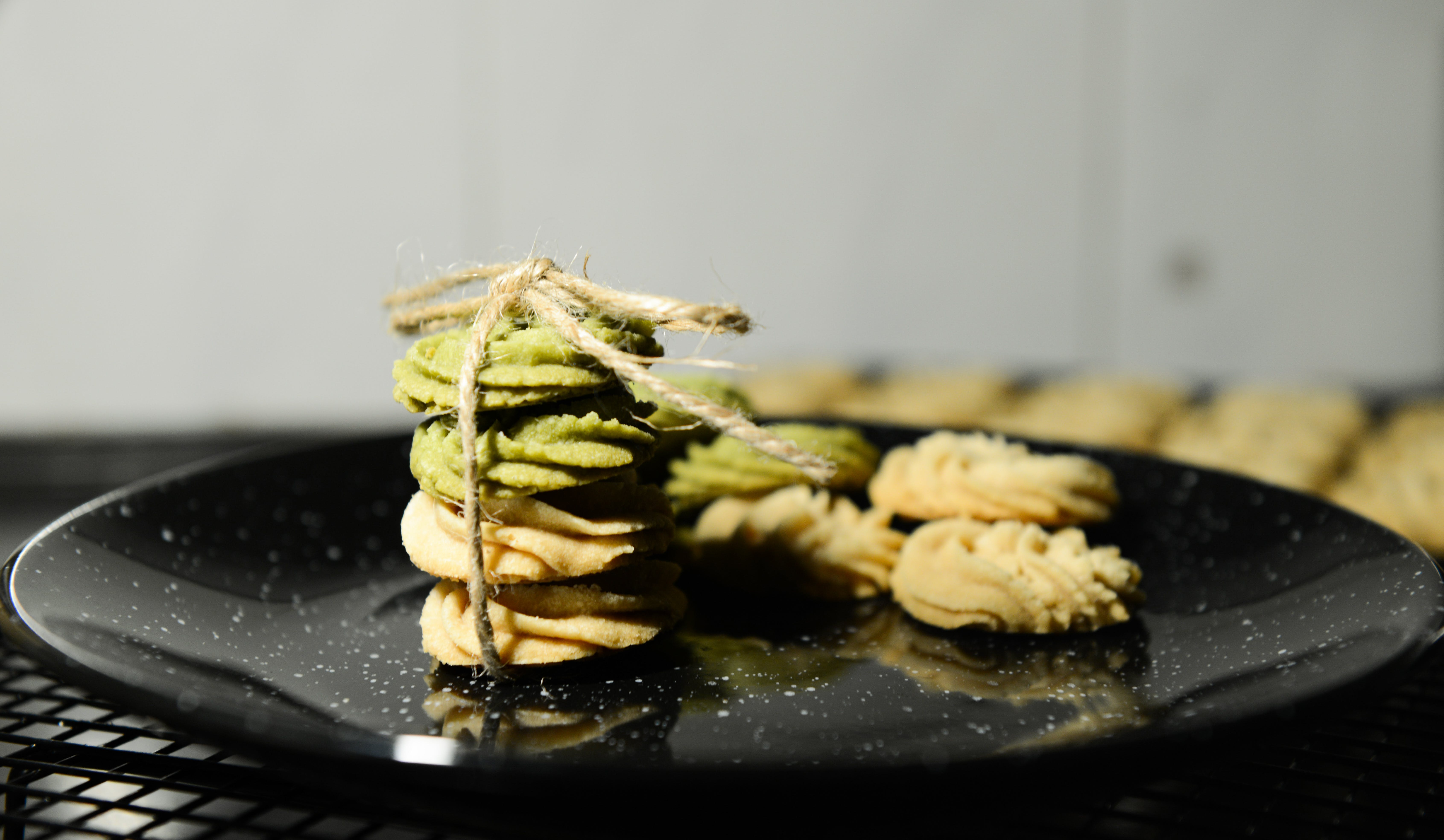 Cookies on Black Marble Plate