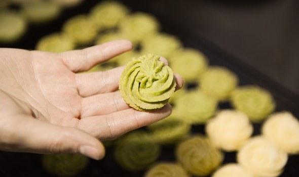 Photography of Green Pastry