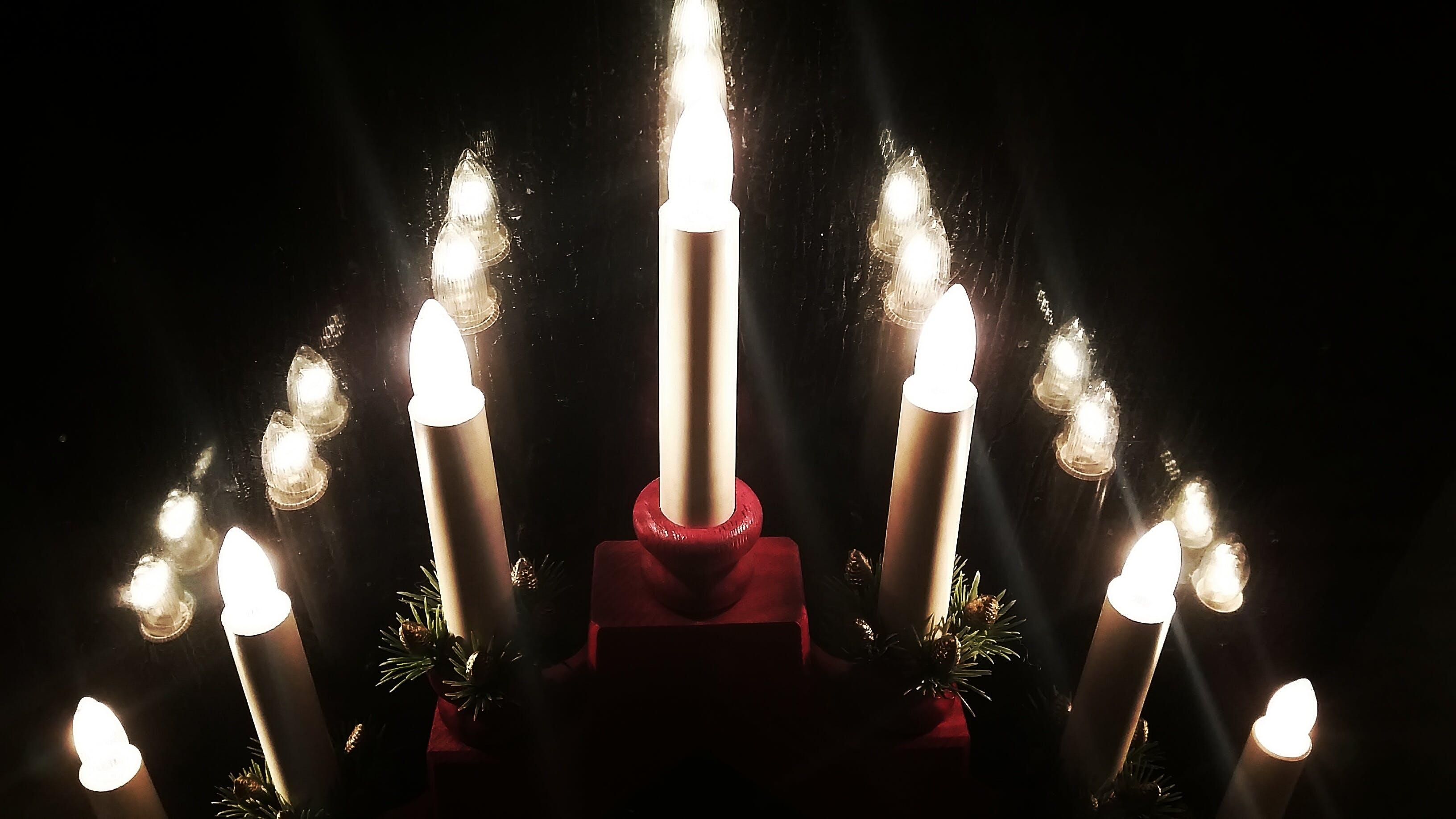 Free stock photo of night, window, christmas, candle