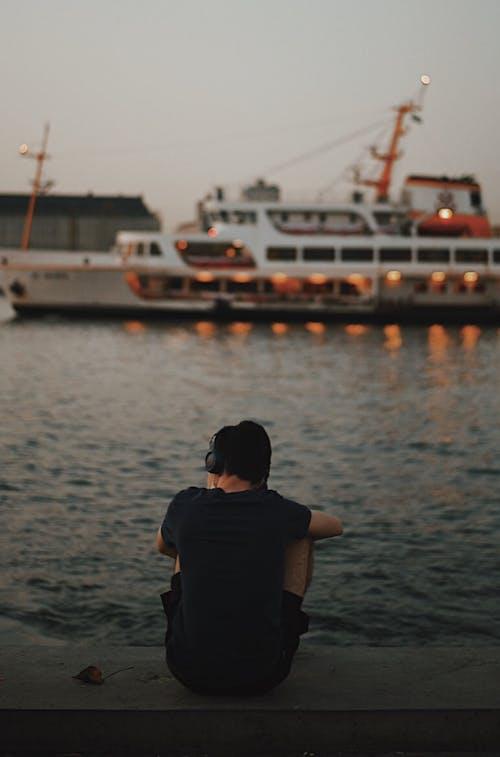 Gratis stockfoto met achteraanzicht, boot, gaan zitten