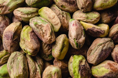Green and Brown Pistachio Nuts