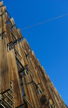 Free stock photo of wood, sky, buildings, architecture