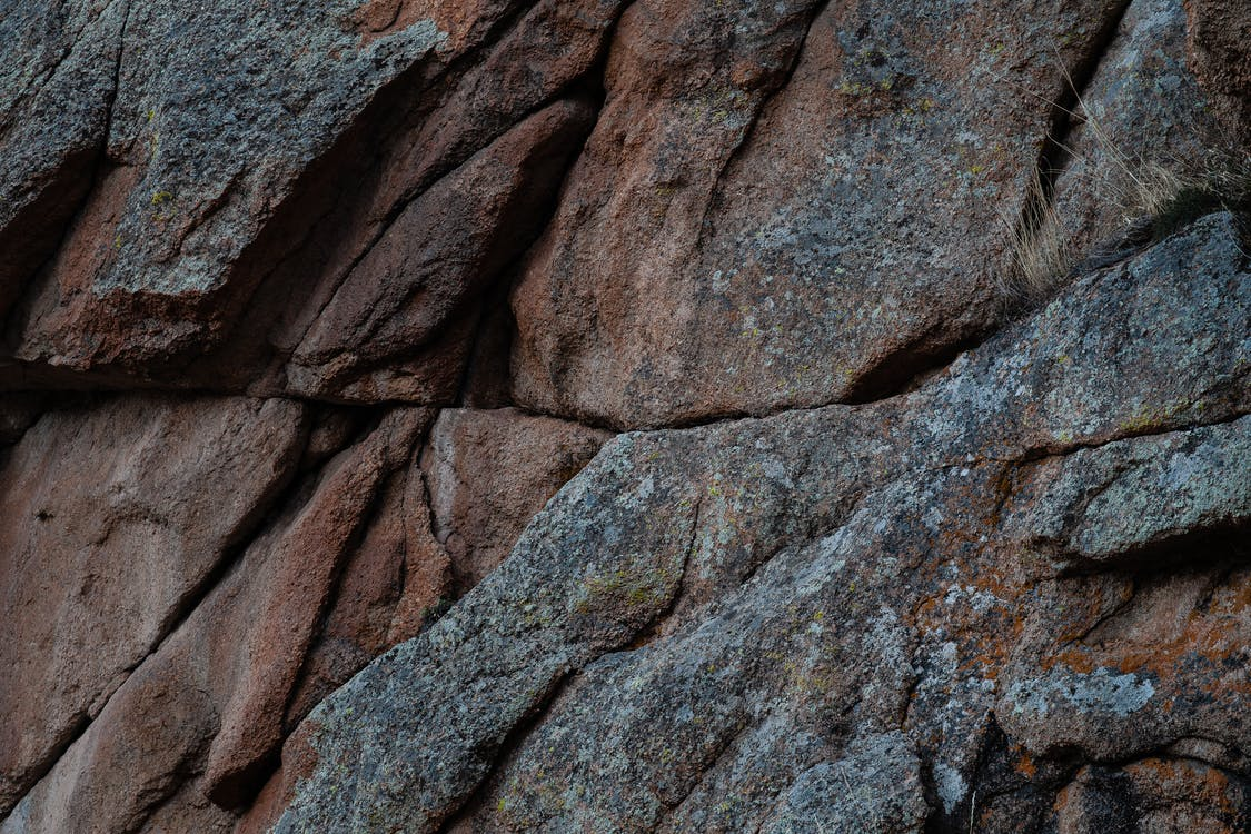 Close Up Photo of Brown and Gray Rock Formation