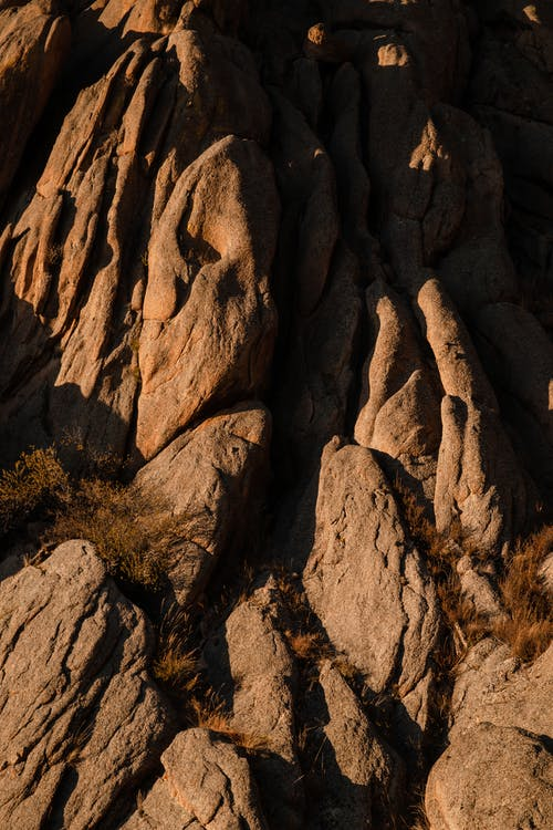High Angle Photo of Brown Rock Formation