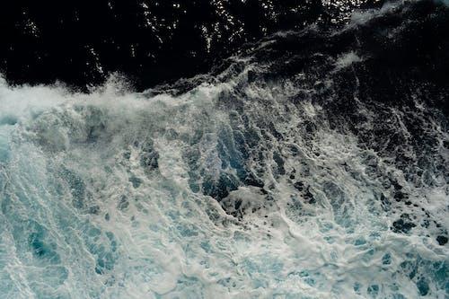 Foto profissional grátis de aerofotografia, azul-escuro, borrifar
