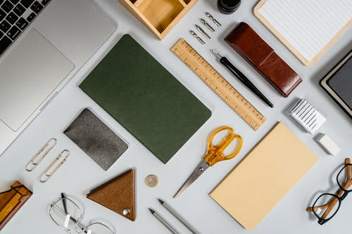 A Flatlay of Office Supplies