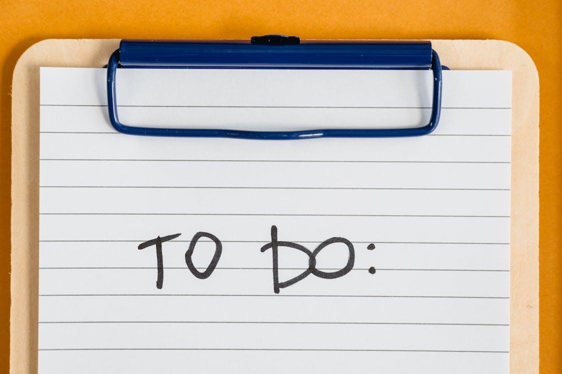 A To Do List on a Clipboard