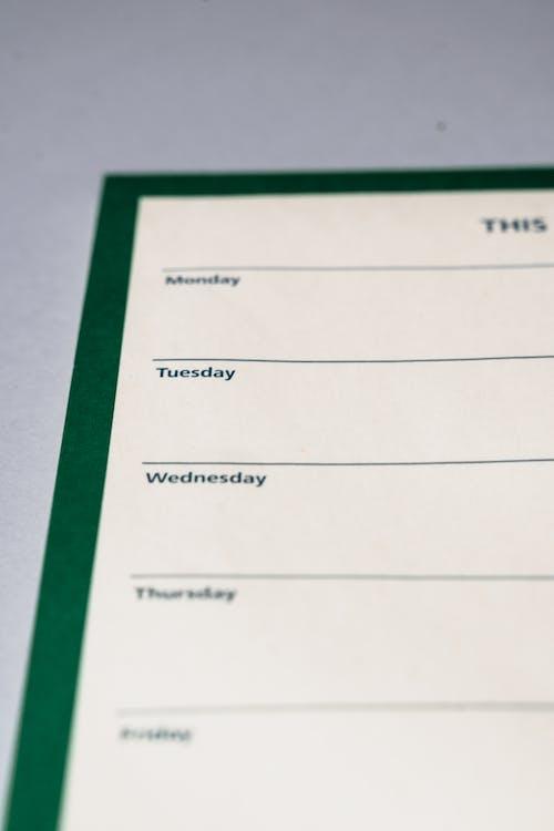 Gratis stockfoto met dagen, labels, organisator