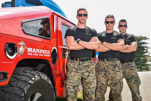 Free stock photo of hummer, marines, military, soldier