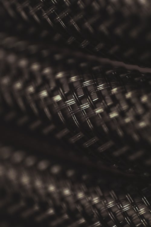 Black and Brown Woven Textile