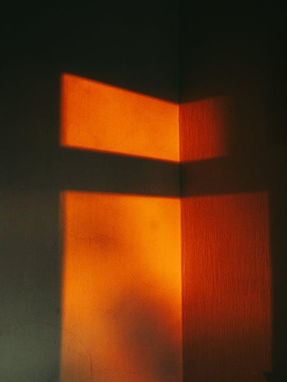 Orange and Black Striped Textile