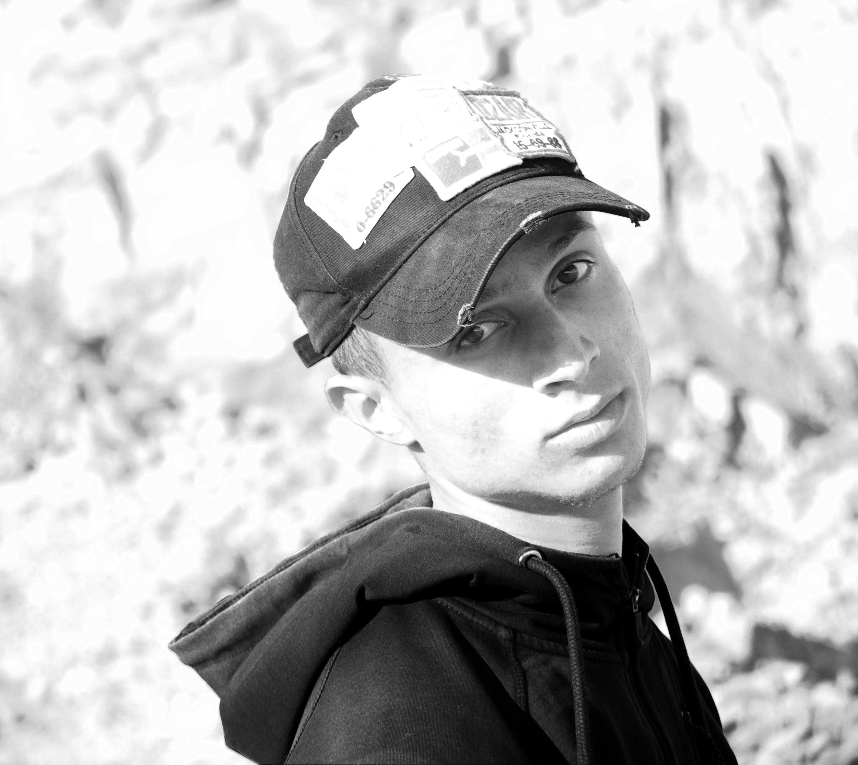 Free stock photo of black and white, boy, fun, guy