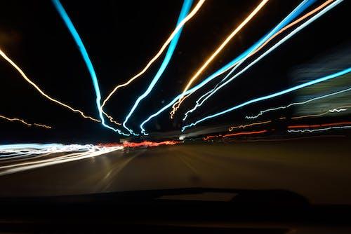 Free stock photo of light, light streaks, lights, slow shutter speed