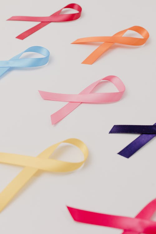 A Close-Up Shot of Ribbons in Different Colors