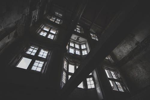akıl hastanesi, cam pencereler, güzel, harabe içeren Ücretsiz stok fotoğraf