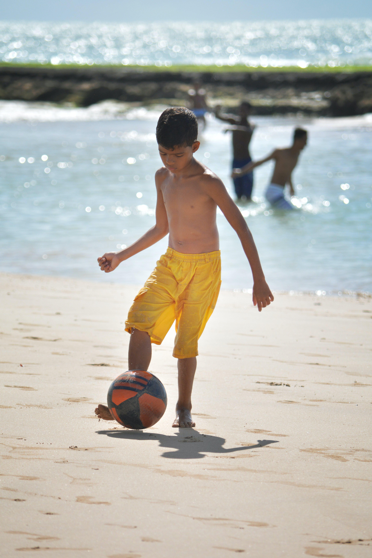 Free stock photo of ball, beach, boy, kid