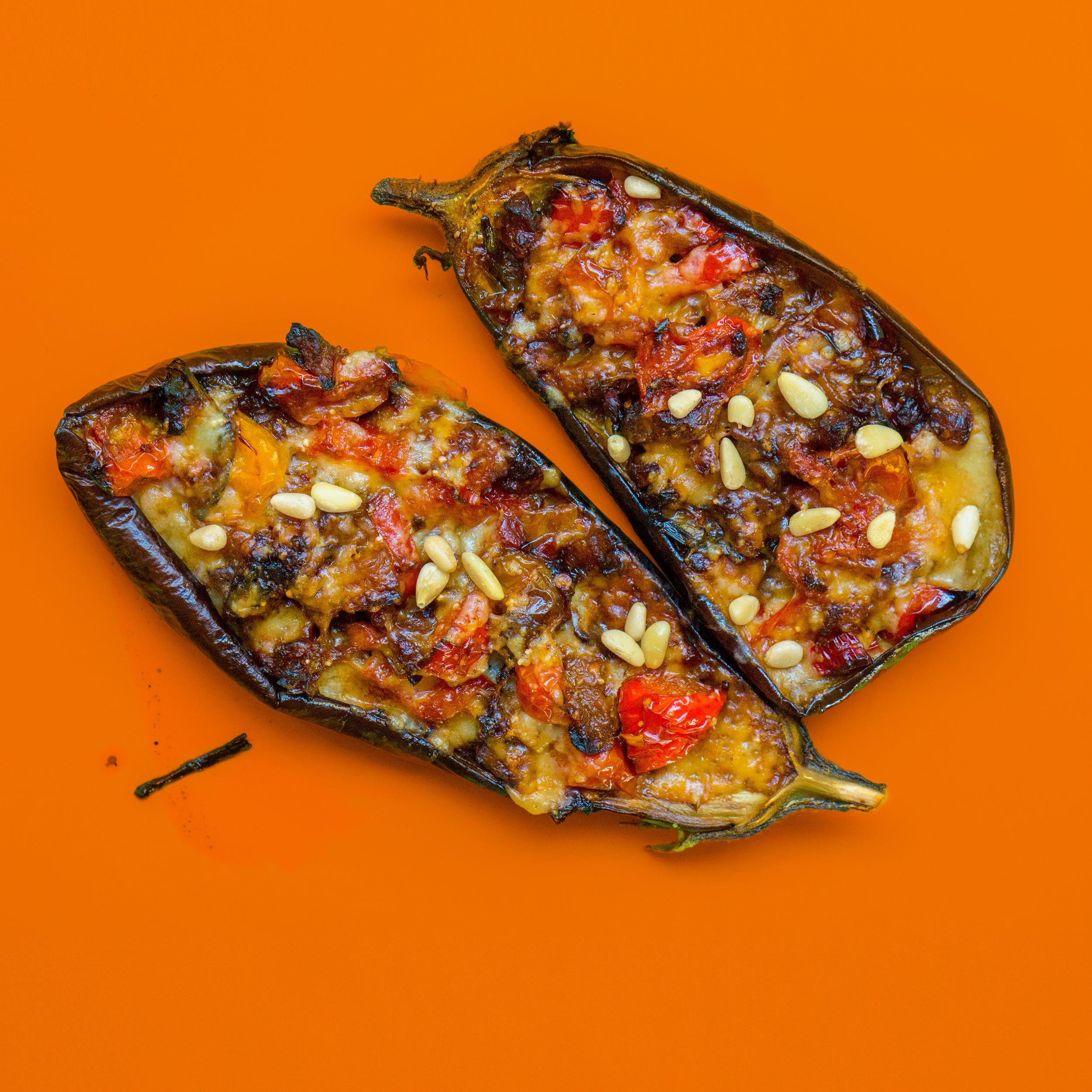 Brown Slice Eggplants